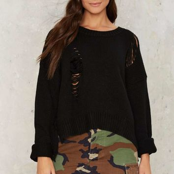 Jovonna London Covent Garden Distressed Sweater