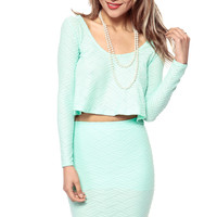 Mint Water Fall Crop Top