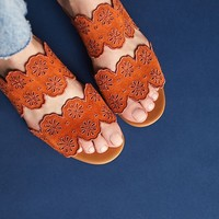 See By Chloe Scalloped Slide Sandals