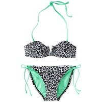 Xhilaration® Junior's 2-Piece Swimsuit -Leopard Print