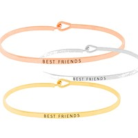 Best Friends Simple Message Being Bangle