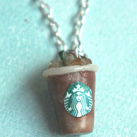 starbucks iced coffee necklace