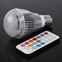 Colorful LED RGB 9W E27 Light Bulb Lamp with Remote Control