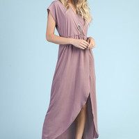 Elegant Maxi Dress - Mauve