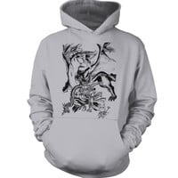 Fairy Tail - natsu and igneel - Unisex Hoodie T Shirt - SSID2016