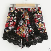 Lace Hot Sale Summer Print Shorts [11641559439]