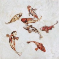"""Paragon Koi II - Plaque by Taylor Candice Olson Art - 26"""" x 26"""" - 6817 - All Wall Art - Wall Art & Coverings - Decor"""