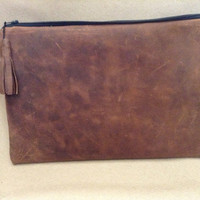 iPad clutch made from high end genuine buffalo leather