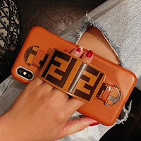 FENDI Fashion Print iPhone Phone Cover Case For iphone 6 6s 6plus 6s-plus 7 7plus iPhone X XR XS XS MAX