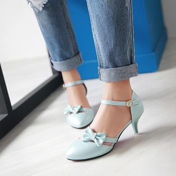 Covered Toe Ankle Strap Sandals Thin Heels 4671