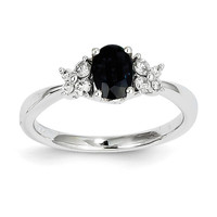 14k Two Toned Diamond & Sapphire Ring Y11334S/AA