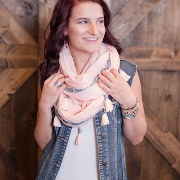Easy Breezy Scarf- Pink