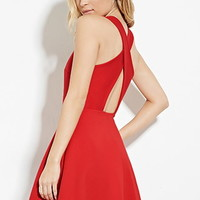 Crisscross Back A-Line Dress