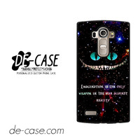 Alice In Wonderland Cheshire Cat Quote For LG G4 Case Phone Case Gift Present