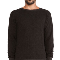 ATM Anthony Thomas Melillo French Terry Pullover in Charcoal