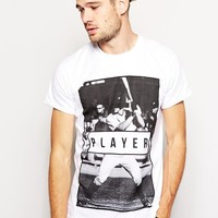 River Island   River Island T-Shirt With Player Print at ASOS