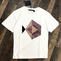 LV 2019 new raglan sleeves for men and women loose wild round neck half sleeve t-shirt