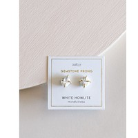 Howlite Mindfulness Prong Earrings