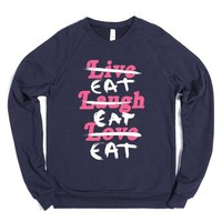 Eat Eat Eat-Unisex Navy Sweatshirt