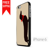 Dachshund Dog Silhouette Pet Lover FDL iPhone 6 Case