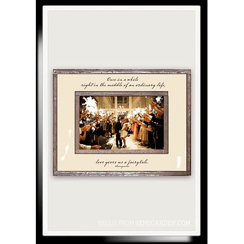 Once In A While Life Gives You A Fairytale Copper & Glass Photo Frame