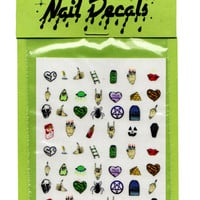 90S NAIL DECALS - Multi