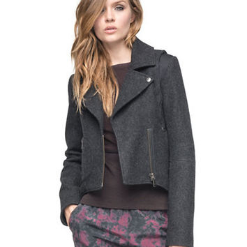 Andrew Marc Wool Blend Cropped Jacket