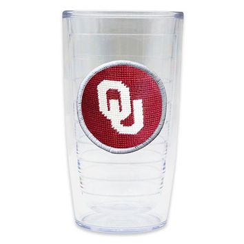 University of Oklahoma Needlepoint Tumbler by Smathers & Branson