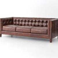 Alderidge Sofa-Cigar Leather