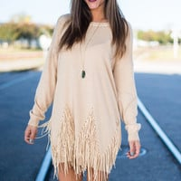 Just Shake It Off Dress, Taupe
