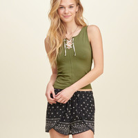 Must-Have Slim Lace-Up Tank
