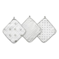aden® by aden + anais® Dusty 3-Pack Washcloths in Grey