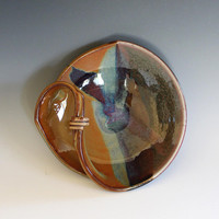Modern Hostess dish, ceramics and pottery, handmade ceramic dish, ceramic bowl, ceramics by Kazem Arshi