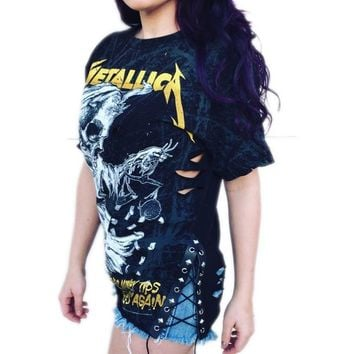 Metallica Side Lace Band Tee