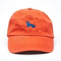 Orange Dachshund Logo Baseball Cap - Mookie
