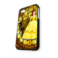 Beauty And The Best Stainet Glass iPhone 4/4S Case