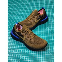 Nike Epic React Flyknit Olive Green Sport Running Shoes