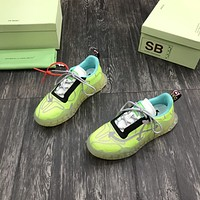 OFF WHITE  OW FW   Fashion Men Women's Casual Running Sport Shoes Sneakers Slipper Sandals High Heels Shoes