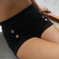 Sailor bottoms high waisted style swimsuit bottoms with by BeBops