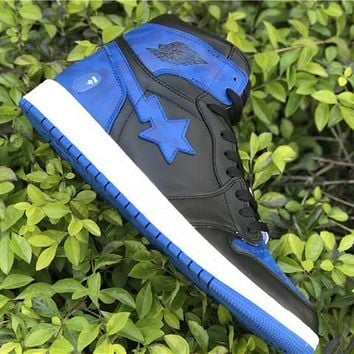 Air Jordan 1 Retro High Royal X BAPE AJ1 Sneakers