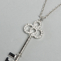Karmaloop.com - Global Concrete Culture - The Cinderella Platinum Plated Key Pendant Necklace by Disney Couture Jewelry