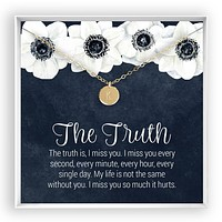 The Truth  Engraved Disc Necklace