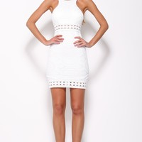 Devilish Grin Dress White