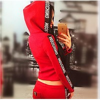Moschino Woman Casual fashion running sports two piece suit Tagre™