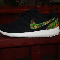 Green Ninja Turtle Nike Black Roshes
