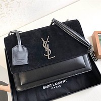 Yves Saint laurent YSL High Quality Fashion Leather Crossbody Satchel