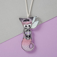 Spooky Mermaid Necklace