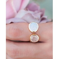 Isa Ring * Rose Quartz * Gold Plated 18k * BJR087