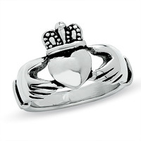 Ladies' Claddagh Ring in Stainless Steel - View All Rings - Zales
