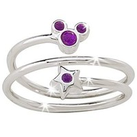 Star and Mickey Mouse Birthstone Ring   Disney Store